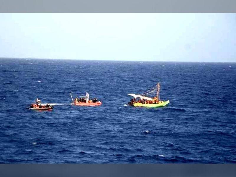Impresionante rescate de 400 migrantes haitianos en viaje a EEUU